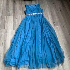 JS Boutique royal blue evening gown